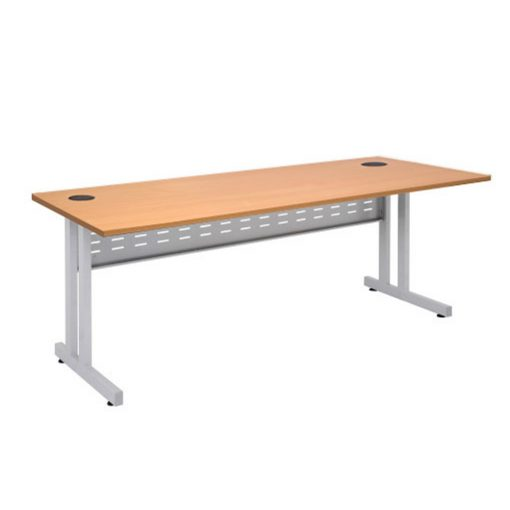 C Leg Straight Desk beech