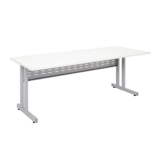 C Leg Straight Desk white