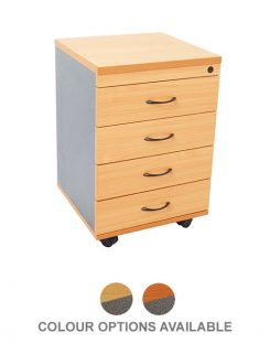 EPIC WORKER 4 DRAWER MOBILE PEDESTAL