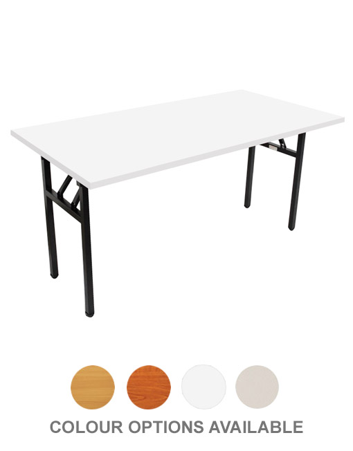 STEEL FRAME FOLDING TABLE - BLACK