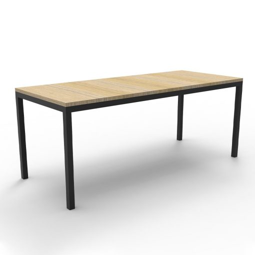 Steel Frame Table Natural Oak