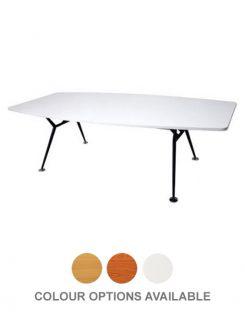 Epic Worker Boardroom Table - Black Steel Base
