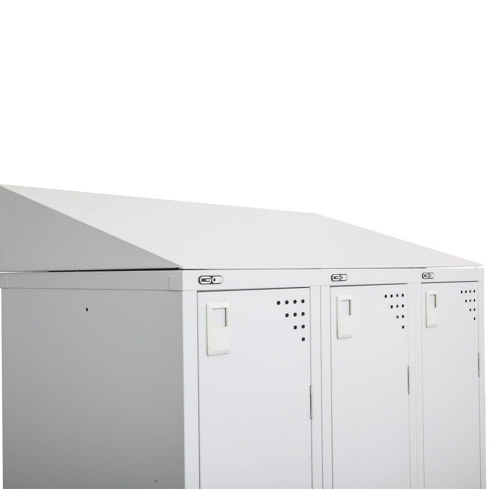SLOPING TOP FOR BANK OF 3 LOCKERS