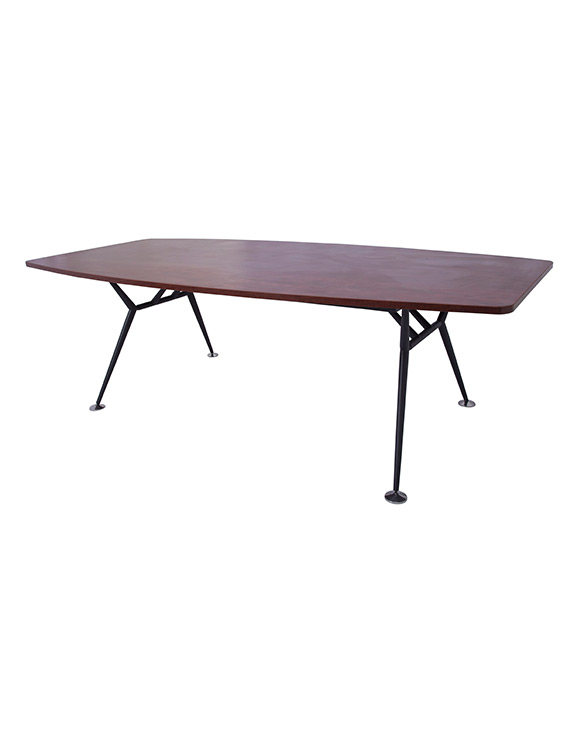 EPIC MANAGER BOARDROOM TABLE - BLACK STEEL BASE