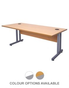 EPIC LINE STRAIGHT DESK - TIMBER MODESTY PANEL
