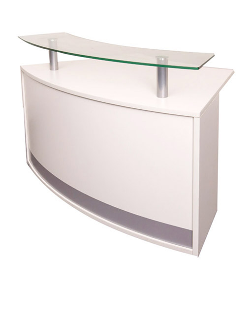 FLUX MODULAR RECEPTION COUNTER WITH GLASS SHELF