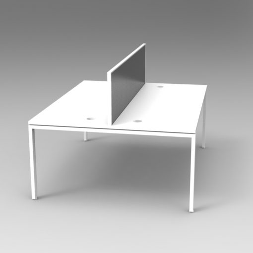 Rapid Infinity Profile Leg Back to Back 2 Person Workstation & Screens 2