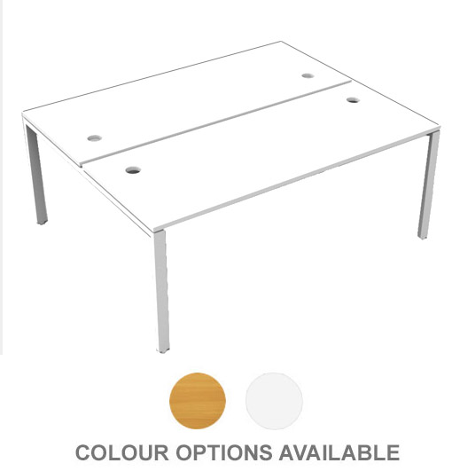 TWO PERSON DOUBLE SIDED OFFICE DESK