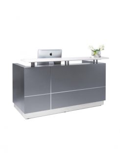 HENDRIX RECEPTION DESK - CHARCOAL