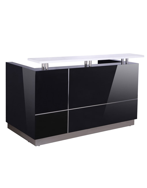 HENDRIX RECEPTION DESK - BLACK