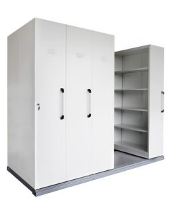 COMPACTUS MOBILE SHELVING 4 BAYS - 2150H x 1280W