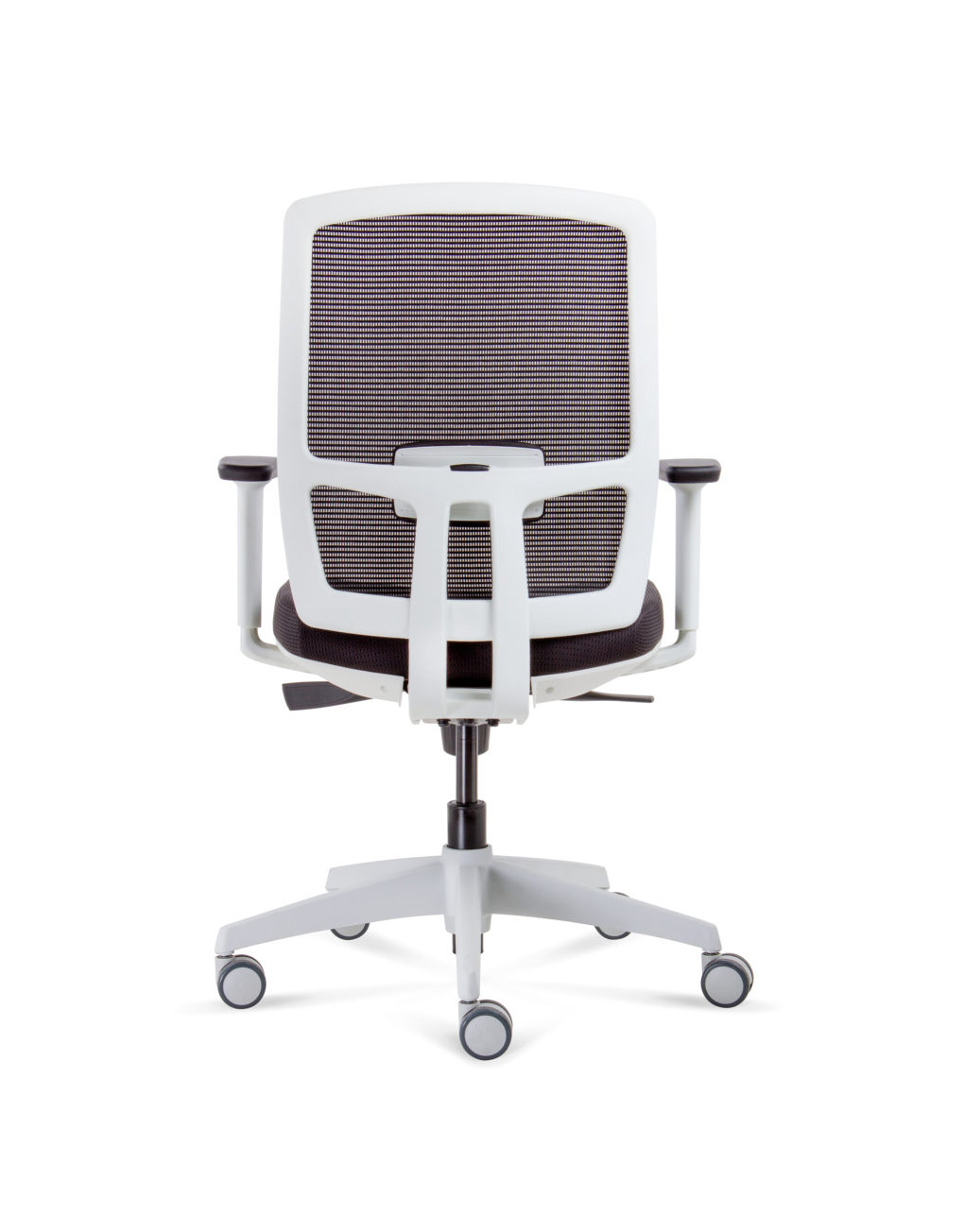 ergonomic task image arms chairs fabric furniture back shop office operator dynamo zeus black with mesh chair