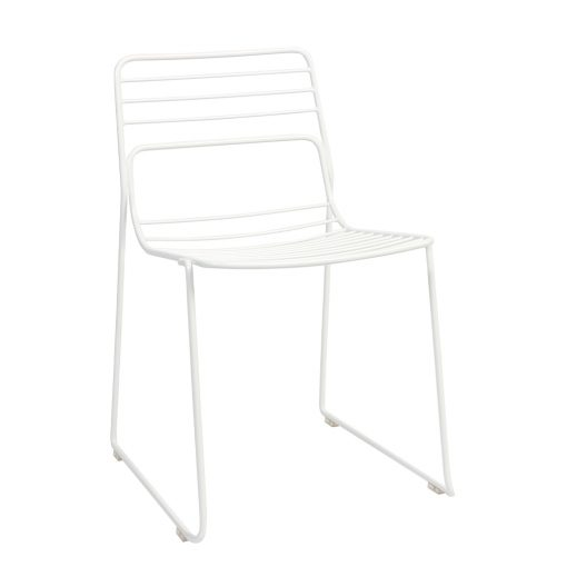 Cage chair white