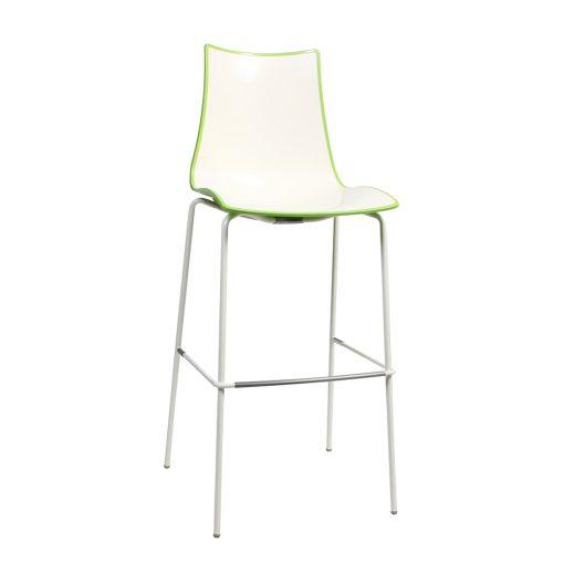 Zebra stool white green