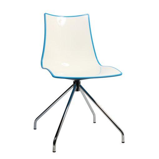 Zebra trestle chair blue
