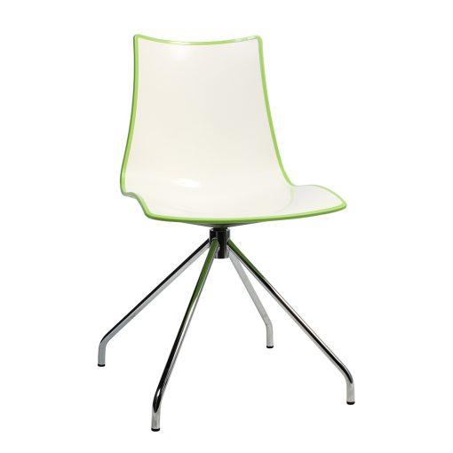 Zebra trestle chair green