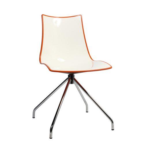 Zebra trestle chair orange