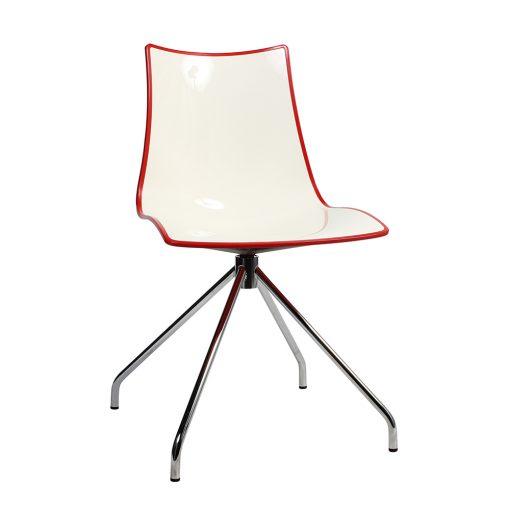 Zebra trestle chair red