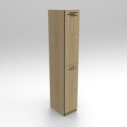 2 Door Natural Oak