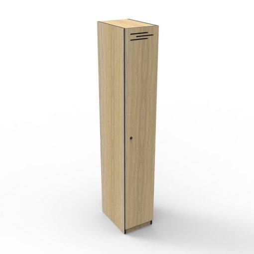 Single Door Natural Oak 2