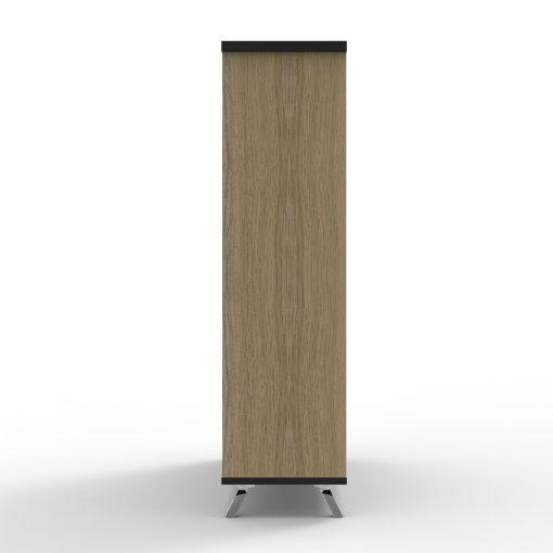 Deluxe Rapid Infinity Bookcase Natural Oak short