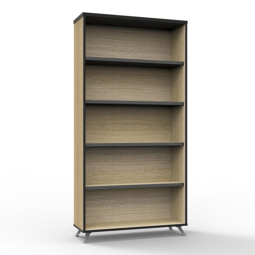 Deluxe Rapid Infinity Bookcase Natural Oak tall