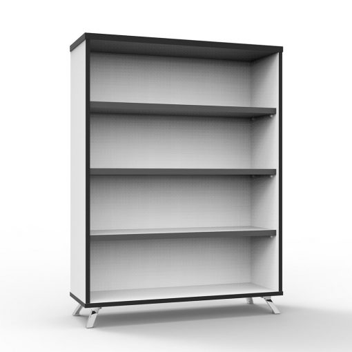 Deluxe Rapid Infinity Bookcase White short 2
