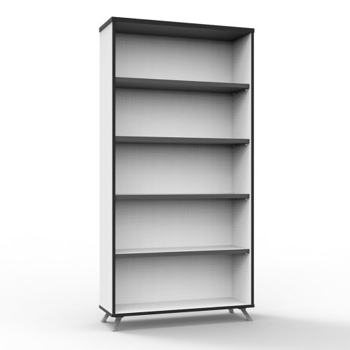 Deluxe Rapid Infinity Bookcase White tall 2