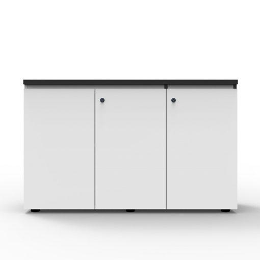 Deluxe Rapid Infinity Swing Door Cupboard 3 Shelves White
