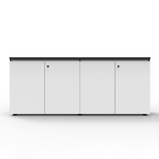Deluxe Rapid Infinity Swing Door Cupboard 4 Shelves White