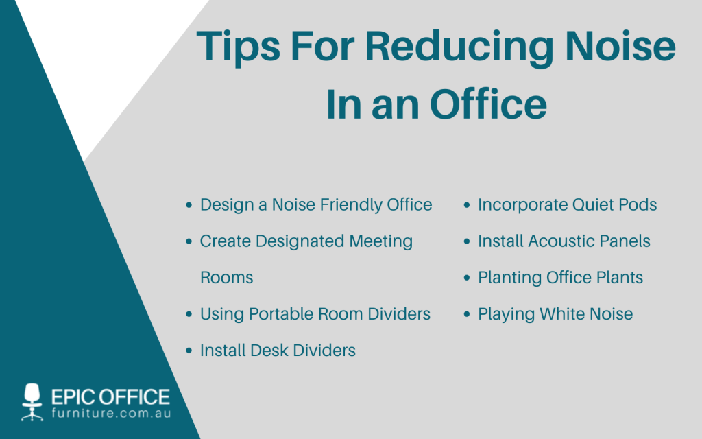 Reduce Noise in Office Environment Tips