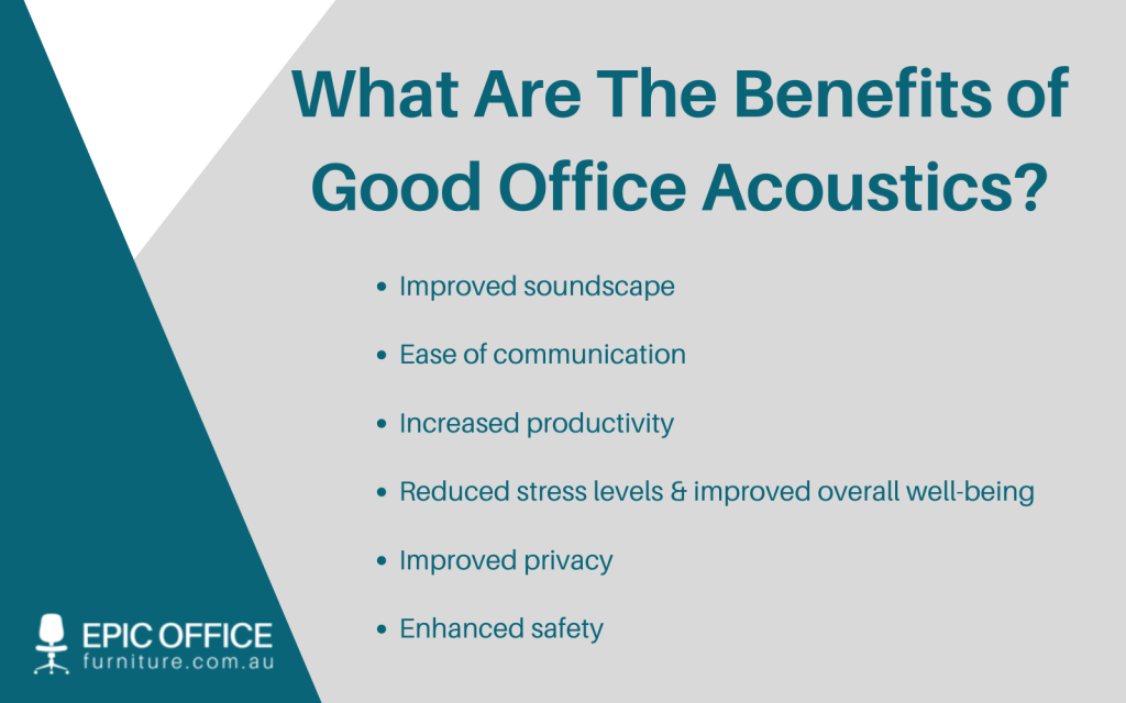 the benefits of good office acoustics