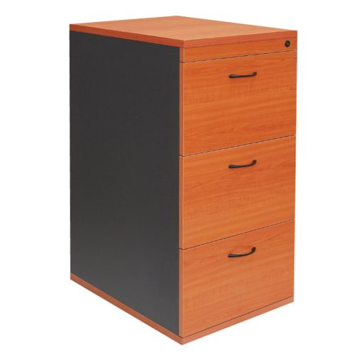 Epic Worker 3 Drawer Filing Cabinet Cherry