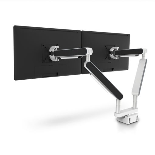 Zgo Dual Monitor Arm White Black