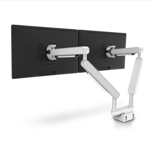 Zgo Dual Monitor Arm White White