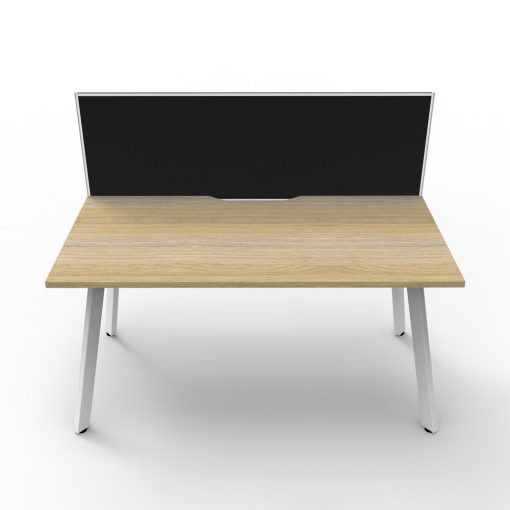 Eternity 1P Workstation with screen Oak White 2