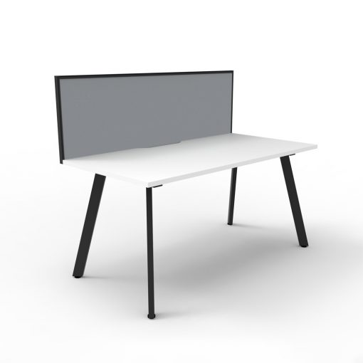 Eternity 1P Workstation with screen White Black