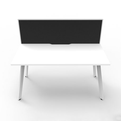 Eternity 1P Workstation with screen White White 2