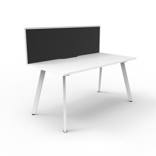 Eternity 1P Workstation with screen White White