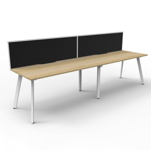Eternity 2P Workstation with screen Oak White