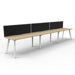 Eternity 3P Workstation with screen Oak White