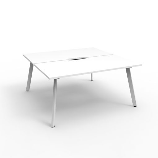 Eternity B2B 2 Person Workstation White White