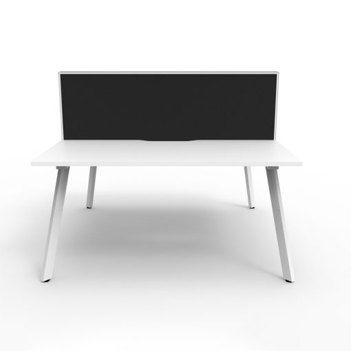 Eternity B2B 2P Workstation with screen White White 2