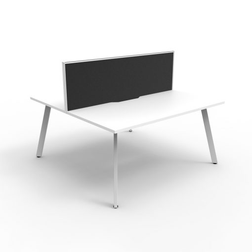 Eternity B2B 2P Workstation with screen White White