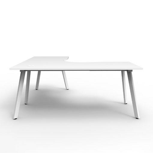 Eternity Single Person Corner Desk White White 2