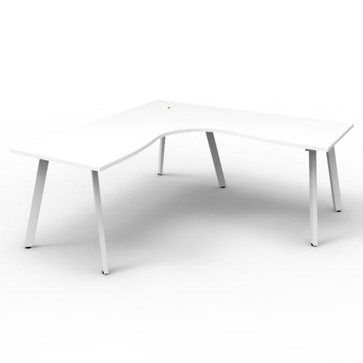 Eternity Single Person Corner Desk White White